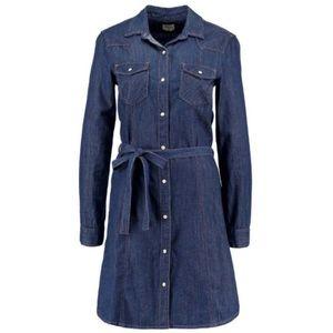 Gap Western Denim Shirt Dress - Size Medium
